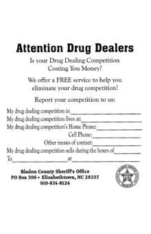 Drug dealers: Turn in your competition – BladenOnline com