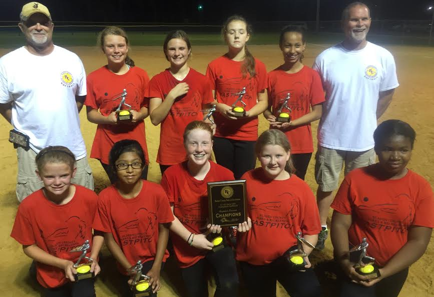 Glory Wins Bladen Recreation 11-12 Softball League