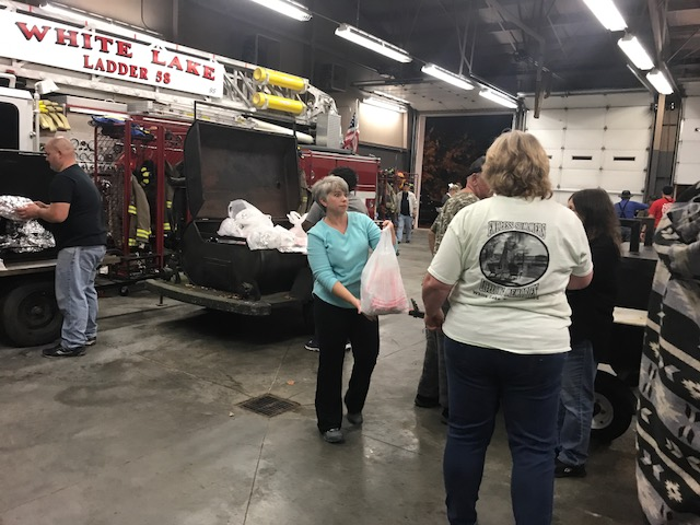 White Lake Fire Department helps Thanksgiving