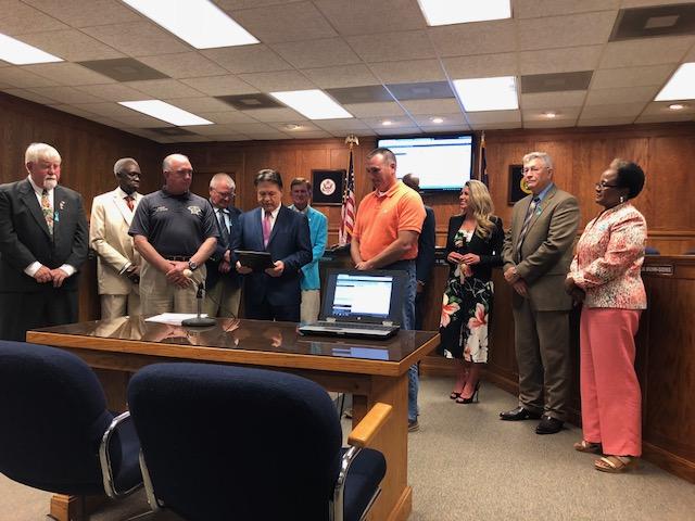 Commissioners Captain Bridgers retirement
