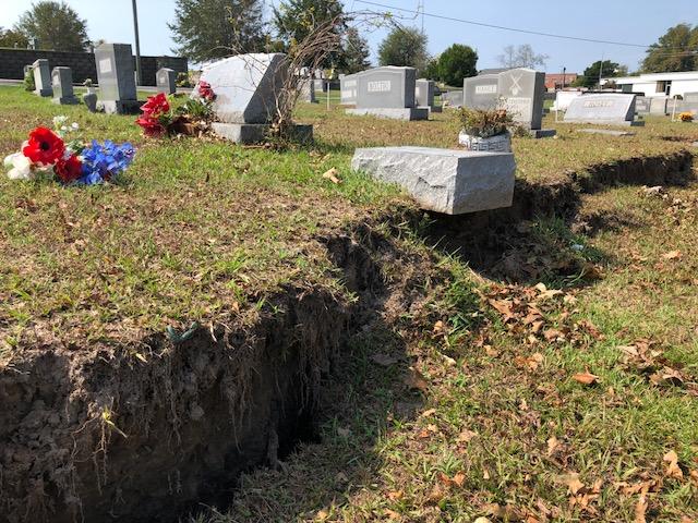 Hurricane Florence city Cemetery 1