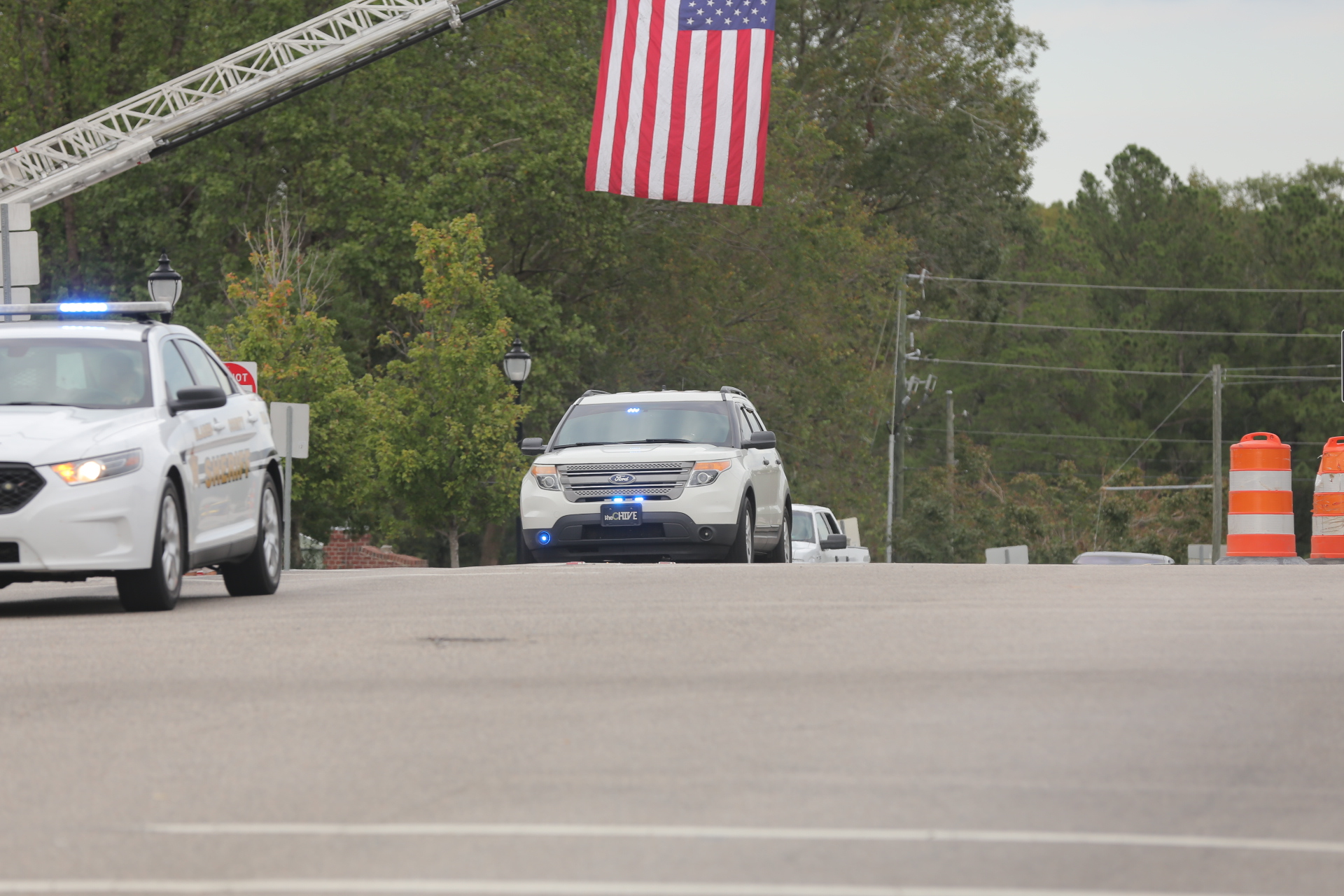 Procession continues from in Elizabethtown and Bladenboro extending to Whiteville for North Carolina Highway Patrol, Trooper Kevin Conner photos by Kenneth Armstrong