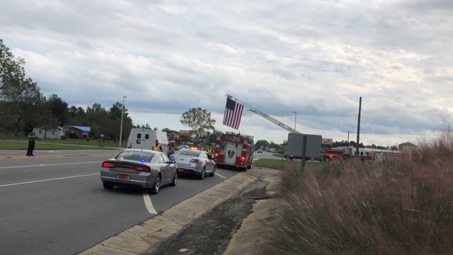 Procession continues from in Elizabethtown and Bladenboro extending to Whiteville for North Carolina Highway Patrol, Trooper Kevin Conner photos by Charlotte