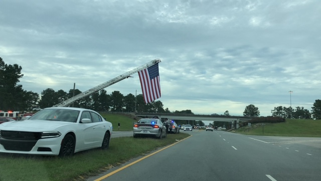 Procession continues from in Elizabethtown and Bladenboro extending to Whiteville for North Carolina Highway Patrol, Trooper Kevin Conner photos by Charlotte Smith