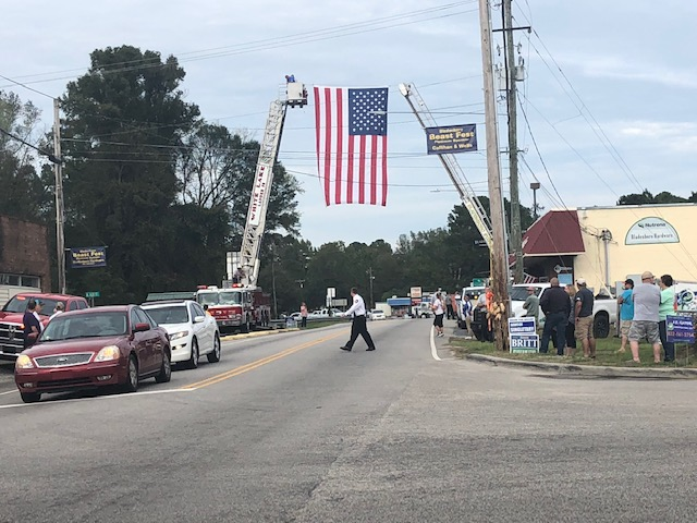 Procession continues from in Elizabethtown and Bladenboro extending to Whiteville for North Carolina Highway Patrol, Trooper Kevin Conner photos by Erin Smith