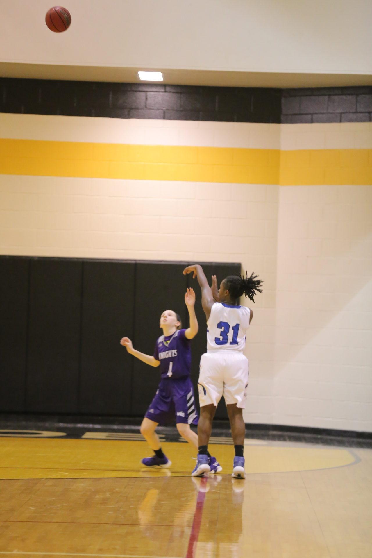 West Bladen vs East Bladen girls playoff basketball 14
