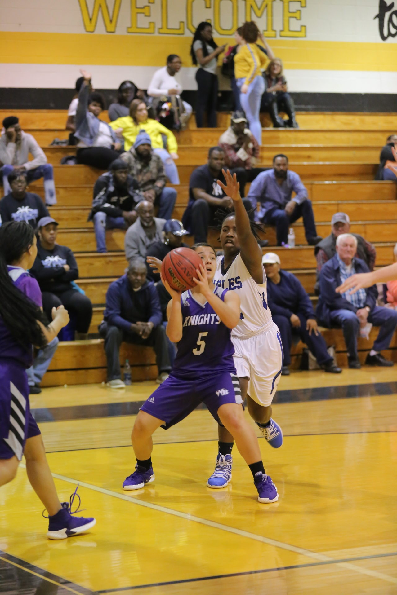 West Bladen vs East Bladen girls playoff basketball 15