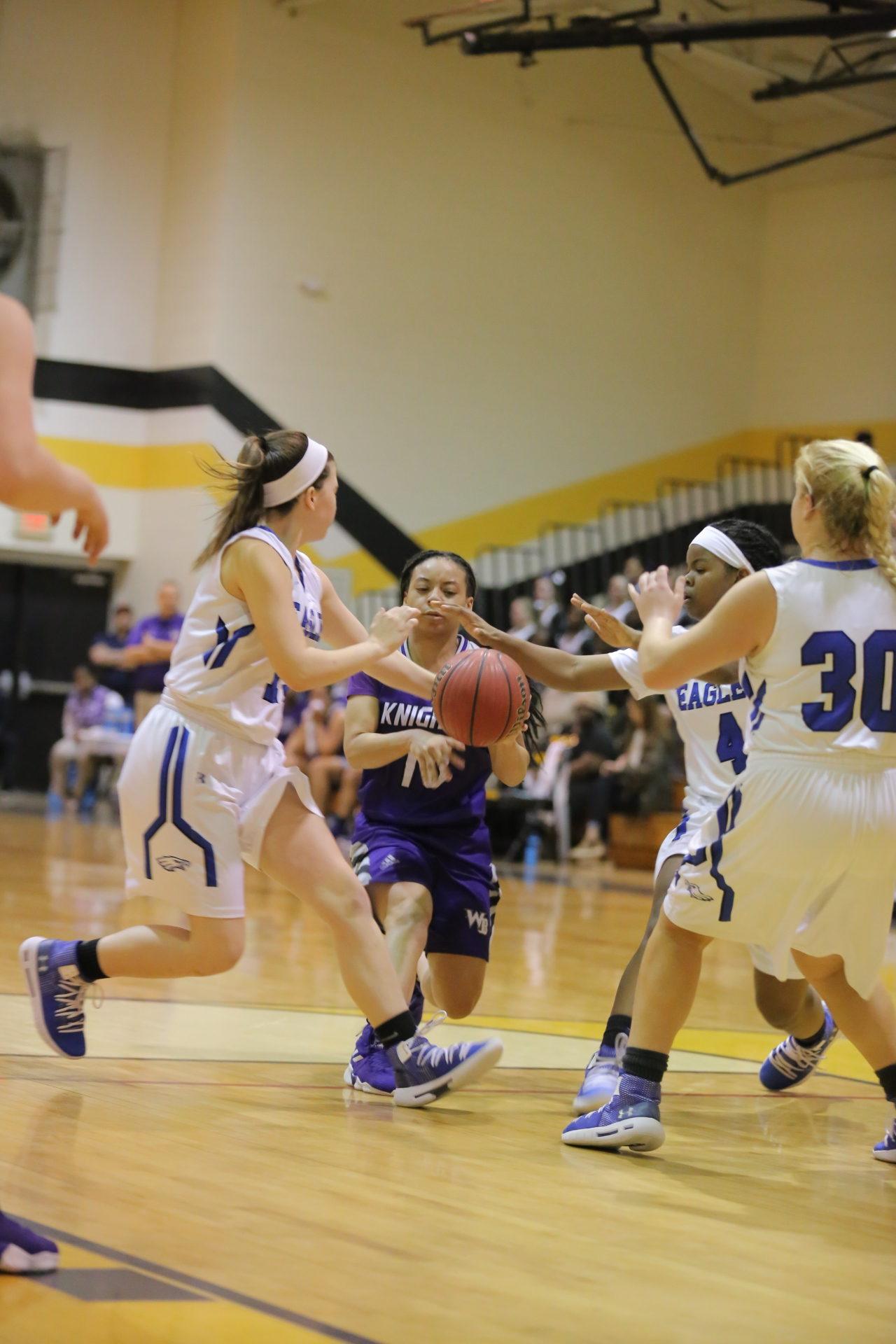 West Bladen vs East Bladen girls playoff basketball 4