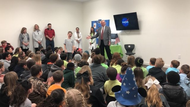 Decorated NASA Astronaut and Elizabethtown native, Col. Curtis Brown at Emereau: Bladen