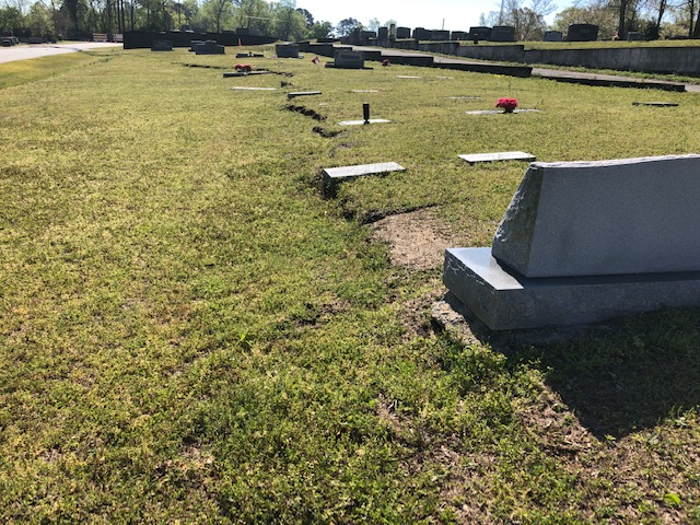 Cemetery Damage 5 4:3:2019