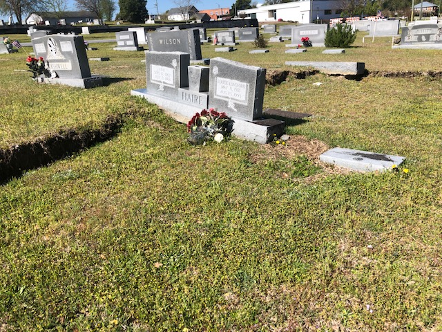 Cemetery Damage 8 4:3:2019