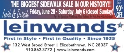 Leinwands small ad for July 4th