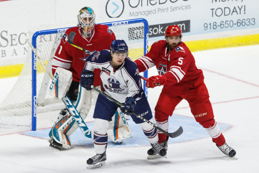 The Allen Americans take on the Tulsa Oilers at the BOK Center October 25, 2016 in Tulsa, Oklahoma. Photo / Kevin Pyle