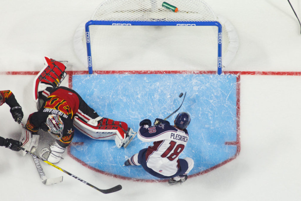 The Indy Fuel take on the Tulsa Oilers at the BOK Center October 21, 2016 in Tulsa, Oklahoma. Photo / Kevin Pyle