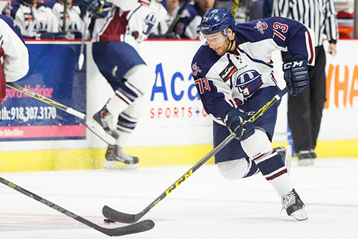 The ECHL Allen Americans take on the Tulsa Oilers at the BOK Center November 03, 2015 in Tulsa, Oklahoma. Photo / Kevin Pyle