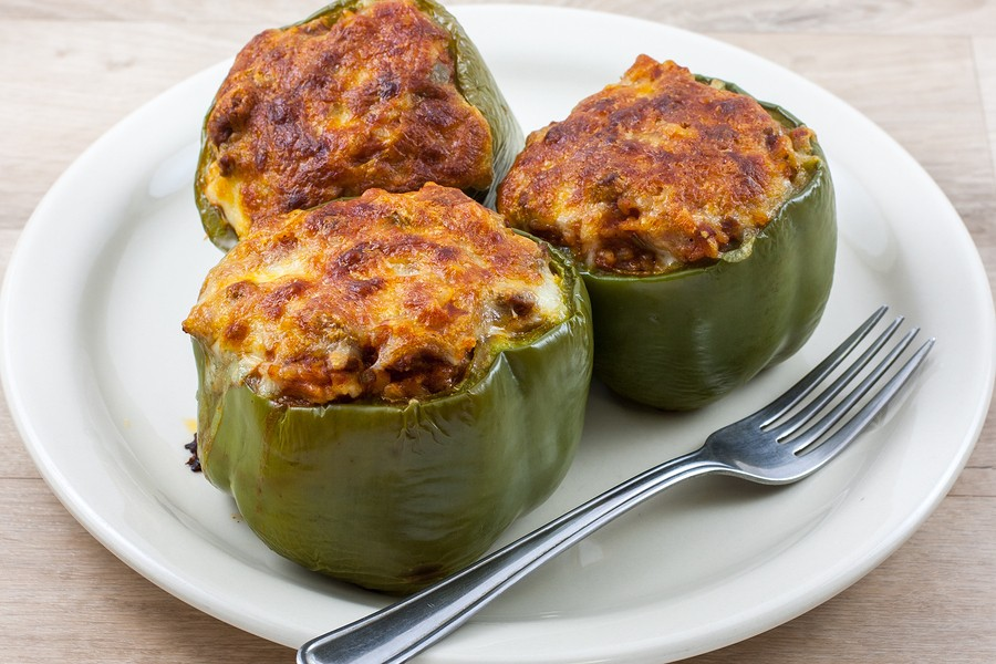 Pick Peppers! Recipe for Stuffed Green Peppers  {Green Peppers, Bell Peppers, Sweet Peppers}