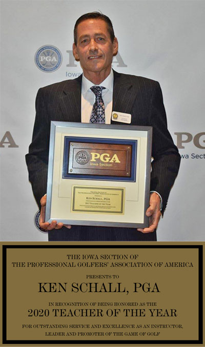 Ken Schall 2020 PGA Iowa Teacher of the Year