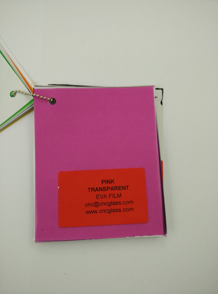 Pink EVAVISION transparent EVA interlayer film for laminated safety glass (10)