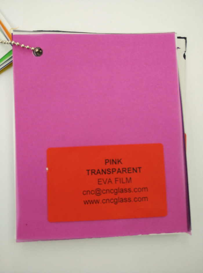 Pink EVAVISION transparent EVA interlayer film for laminated safety glass (5)