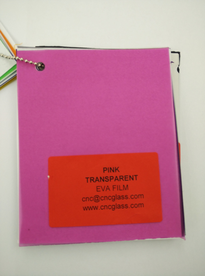 Pink EVAVISION transparent EVA interlayer film for laminated safety glass (6)