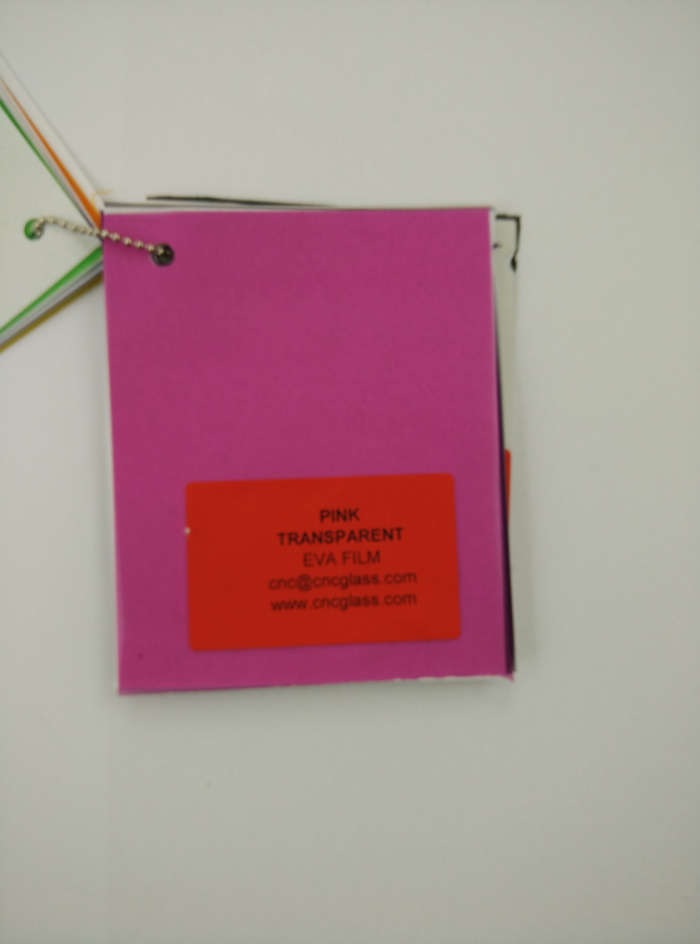 Pink EVAVISION transparent EVA interlayer film for laminated safety glass (65)
