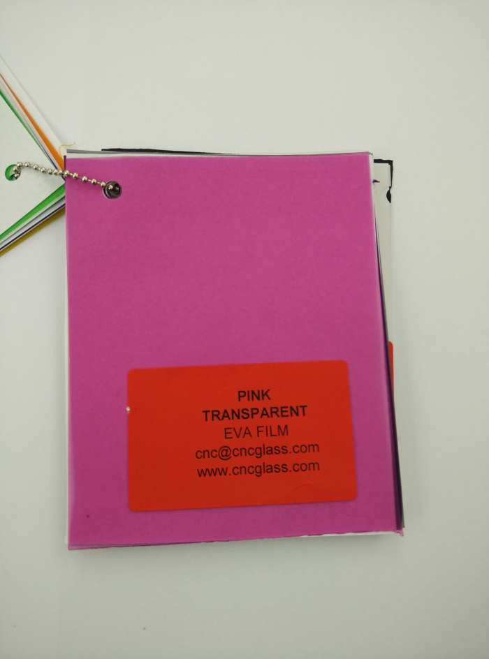 Pink EVAVISION transparent EVA interlayer film for laminated safety glass (8)