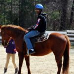 BRMA Student riding a horse