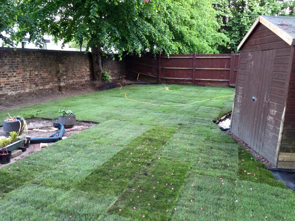 Turfing & Sowing Grass