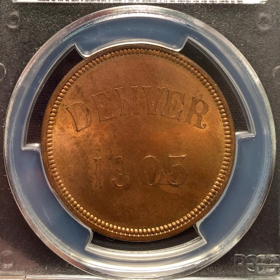 1905 Denver Mint Opening Medal PCGS MS65RB