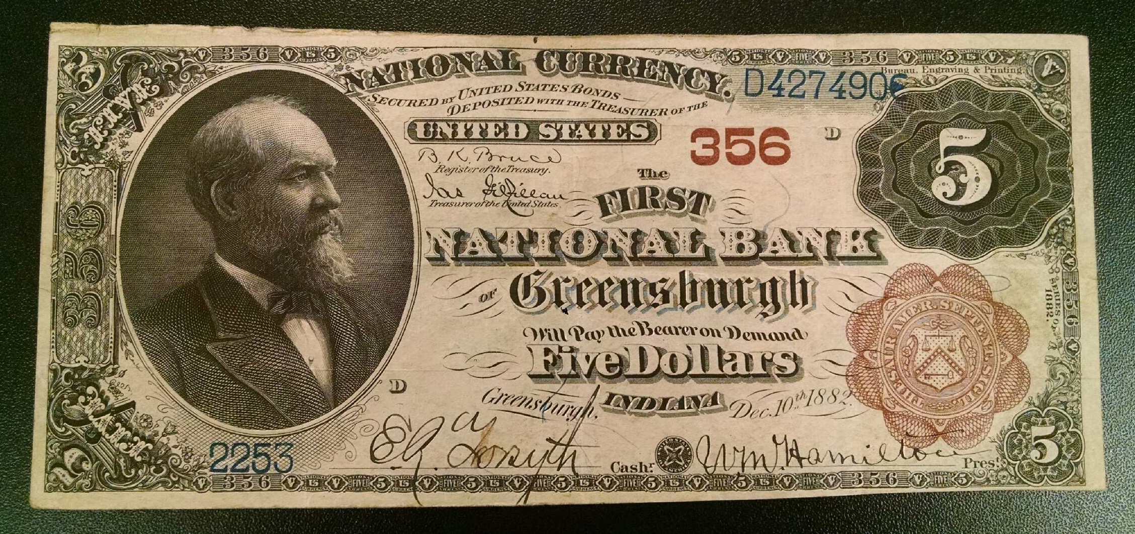 Greensburgh Indiana National Note UNKNOWN