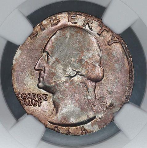 1968 D Quarter Struck On Sintered Nickel Planchet