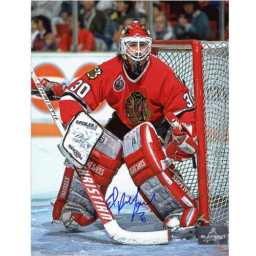 Ed Belfour Signed Photo 8x10 Chicago Blackhawks