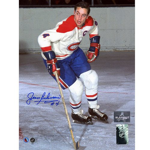 Signed Jean Beliveau Picture-Montreal Canadiens 8x10 Original Six