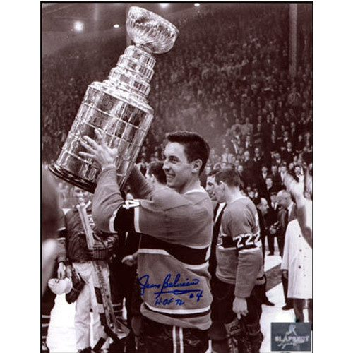 Jean Beliveau Signed Photo Canadiens 8x10 Stanley Cup Photo