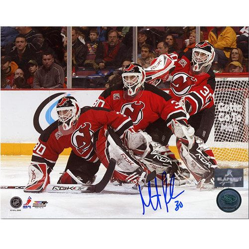 Martin Brodeur New Jersey Devils Signed Overhead Goal Crease 8x10 Photo