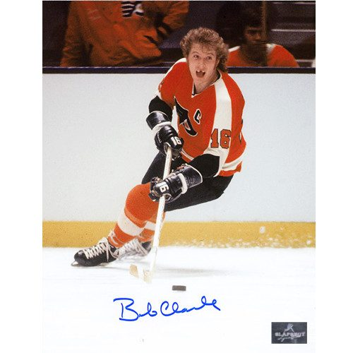 Bobby Clarke Toothless Photo Philadelphia Flyers Signed 8x10 Photo