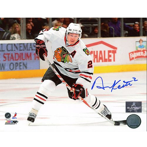 Duncan Keith Chicago Blackhawks Autographed Horizontal Slapshot 8x10 Photo