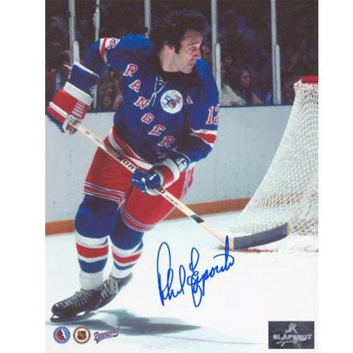 Phil Esposito NY Rangers 1st Game Signed 8x10 Photo