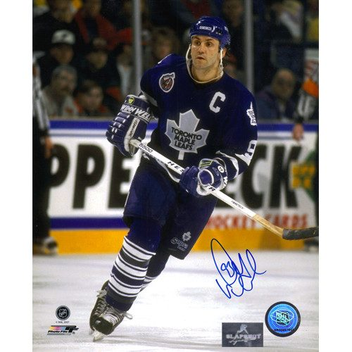 Doug Gilmour Toronto Maple Leafs Signed 8x10 Captain Photo|Doug Gilmour Toronto Maple Leafs Signed 8x10 Captain Photo