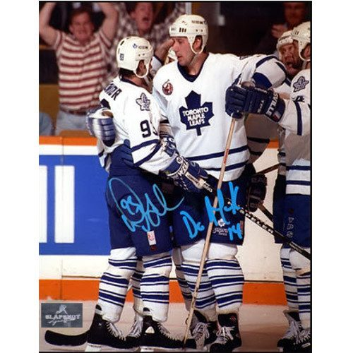 Doug Gilmour Dave Andreychuk Toronto Maple Leafs Dual Signed 8x10 Photo|Doug Gilmour & Dave Andreychuk Toronto Maple Leafs Dual Signed 8x10 Photo