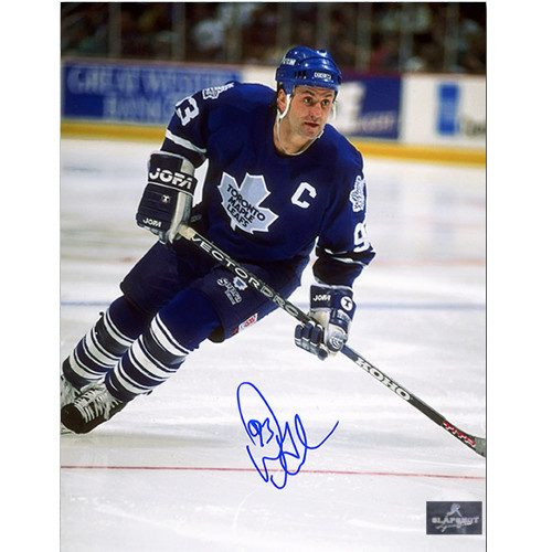 Doug Gilmour Toronto Maple Leafs Signed Action 8x10 Photo|Doug Gilmour Toronto Maple Leafs Signed Action 8x10 Photo