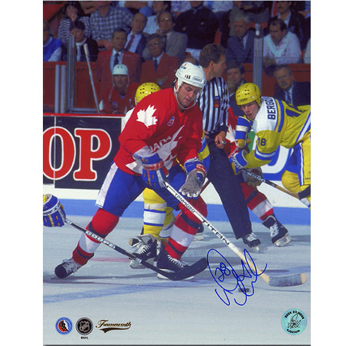 Doug Gilmour Team Canada Signed Canada Cup 8x10 Photo