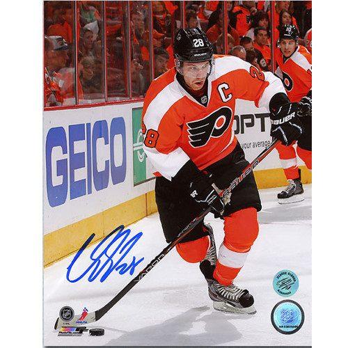 Claude Giroux Philadelphia Flyers Signed Orange Crush 8x10 Photo