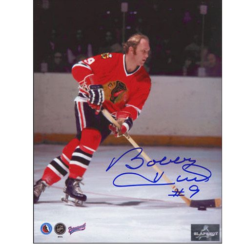 Bobby Hull Chicago Blackhawks NHL Game Action Signed 8x10 Photo