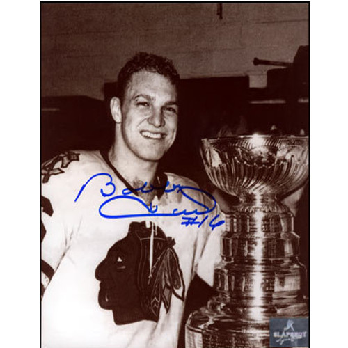 Bobby Hull Stanley Cup 1961 Chicago Blackhawks Signed 8x10 Photo