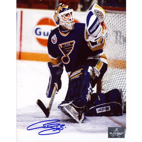 Curtis Joseph St Louis Blues CUJO Glove Save Signed 8x10 Photo