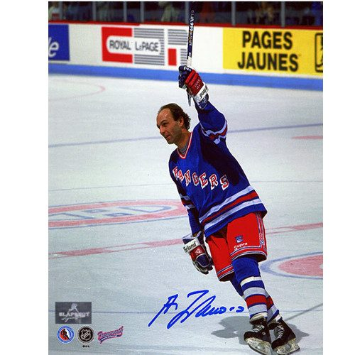 Guy Lafleur Returns to Montreal New York Rangers Signed 8x10 Photo