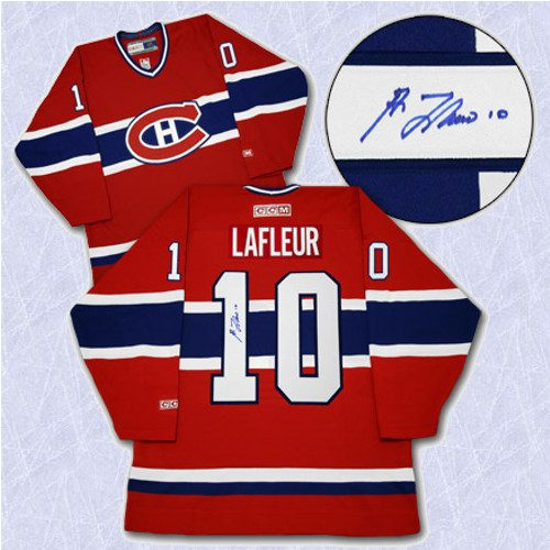Guy Lafleur Signed Montreal Canadiens Vintage Jersey