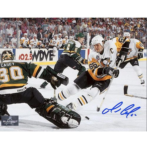 Mario Lemieux Highlights Pittsburgh Penguins Finals Goal Signed 8x10 Photo