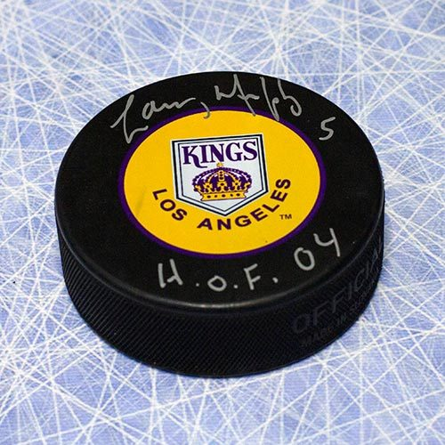 Larry Murphy Kings Retro Logo Signed Puck